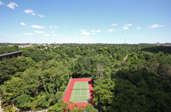 Tennis Court & Ravine at 309 - 18 Concorde Place, Toronto