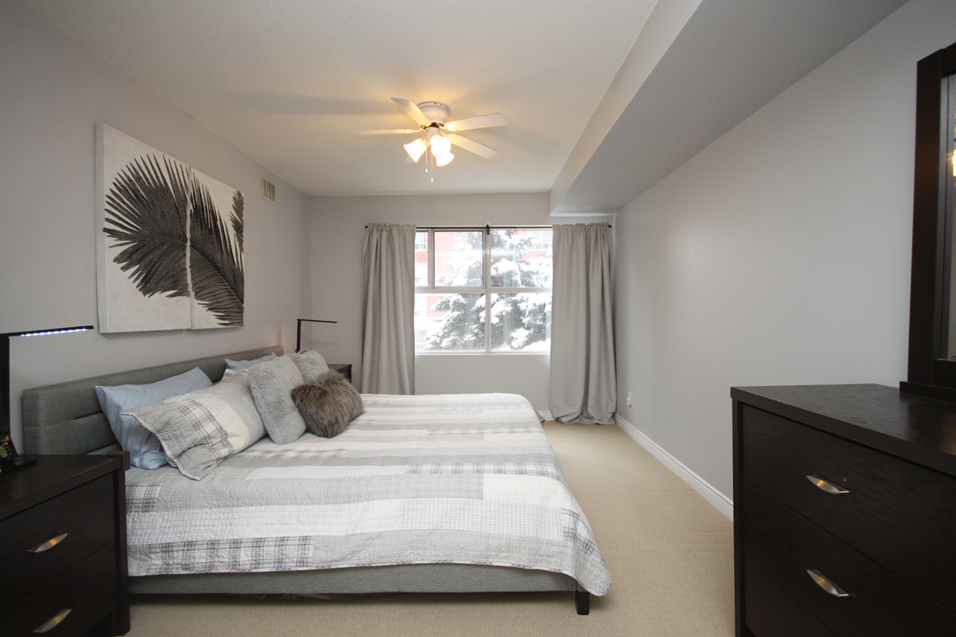 Master Bedroom at 309 - 18 Concorde Place, Toronto