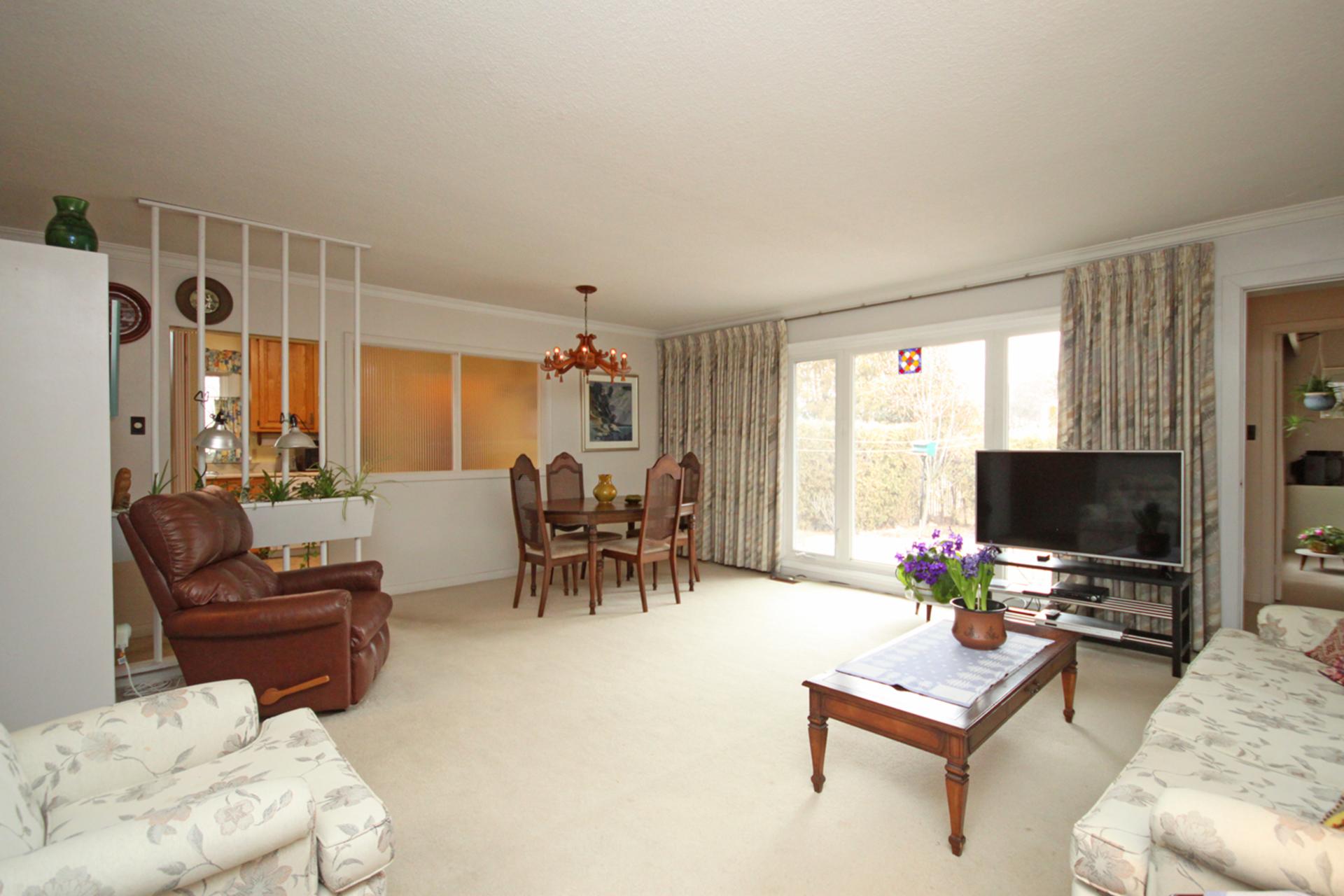 Living & Dining Room at 63 Hesketh Court, Victoria Village, Toronto