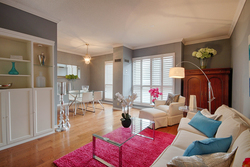 Living Room at 101 - 3 Concorde Place, Banbury-Don Mills, Toronto