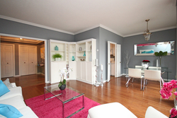 Living & Dining Room at 101 - 3 Concorde Place, Banbury-Don Mills, Toronto