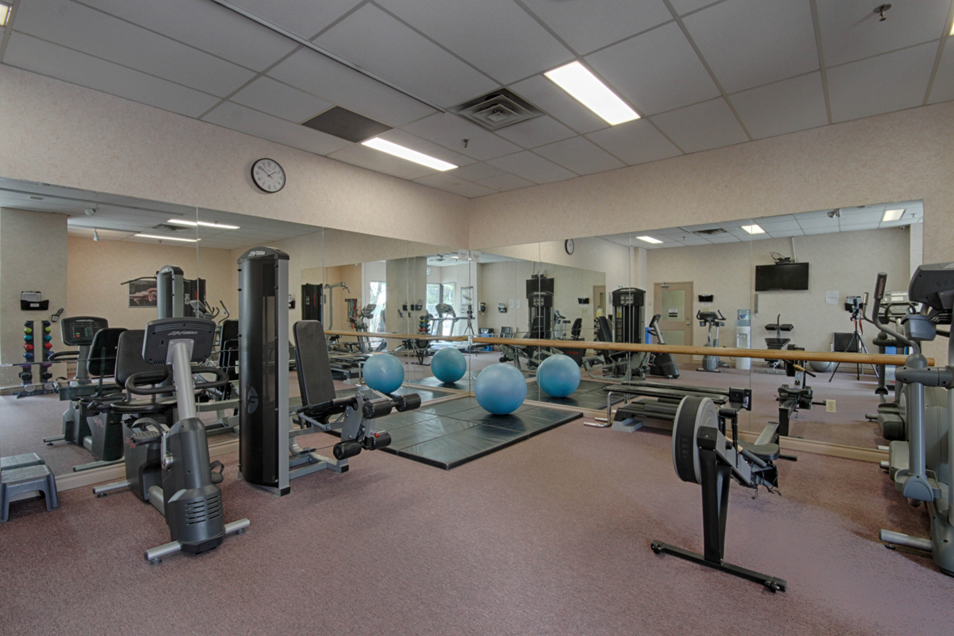 Exercise Room at 101 - 3 Concorde Place, Banbury-Don Mills, Toronto
