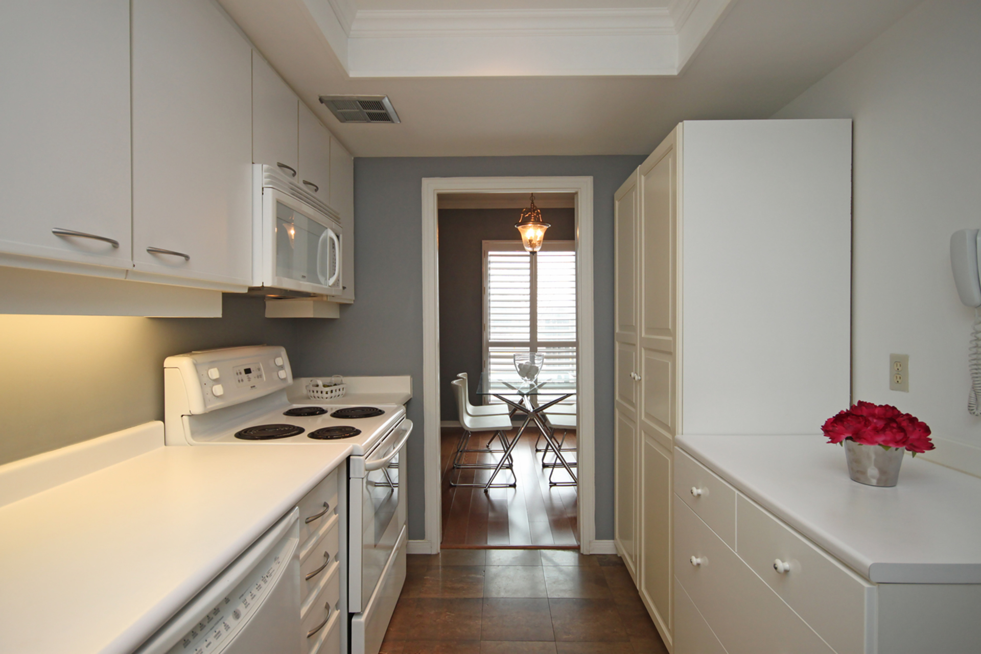 Kitchen at 101 - 3 Concorde Place, Banbury-Don Mills, Toronto