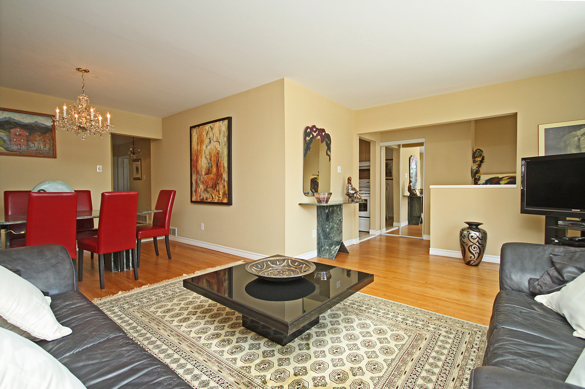 Living & Dining Room at 172 Old Sheppard Avenue, Pleasant View, Toronto
