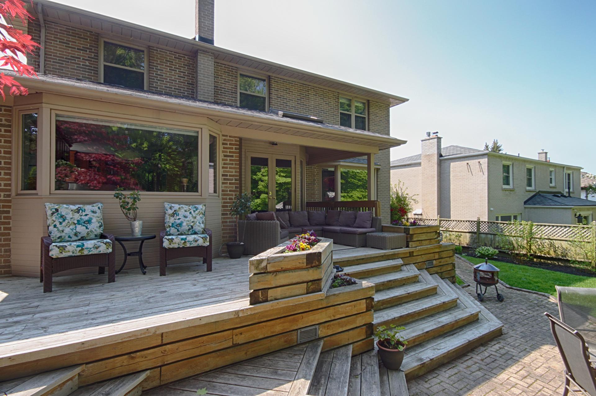 Backyard at 114 Cassandra Boulevard, Parkwoods-Donalda, Toronto