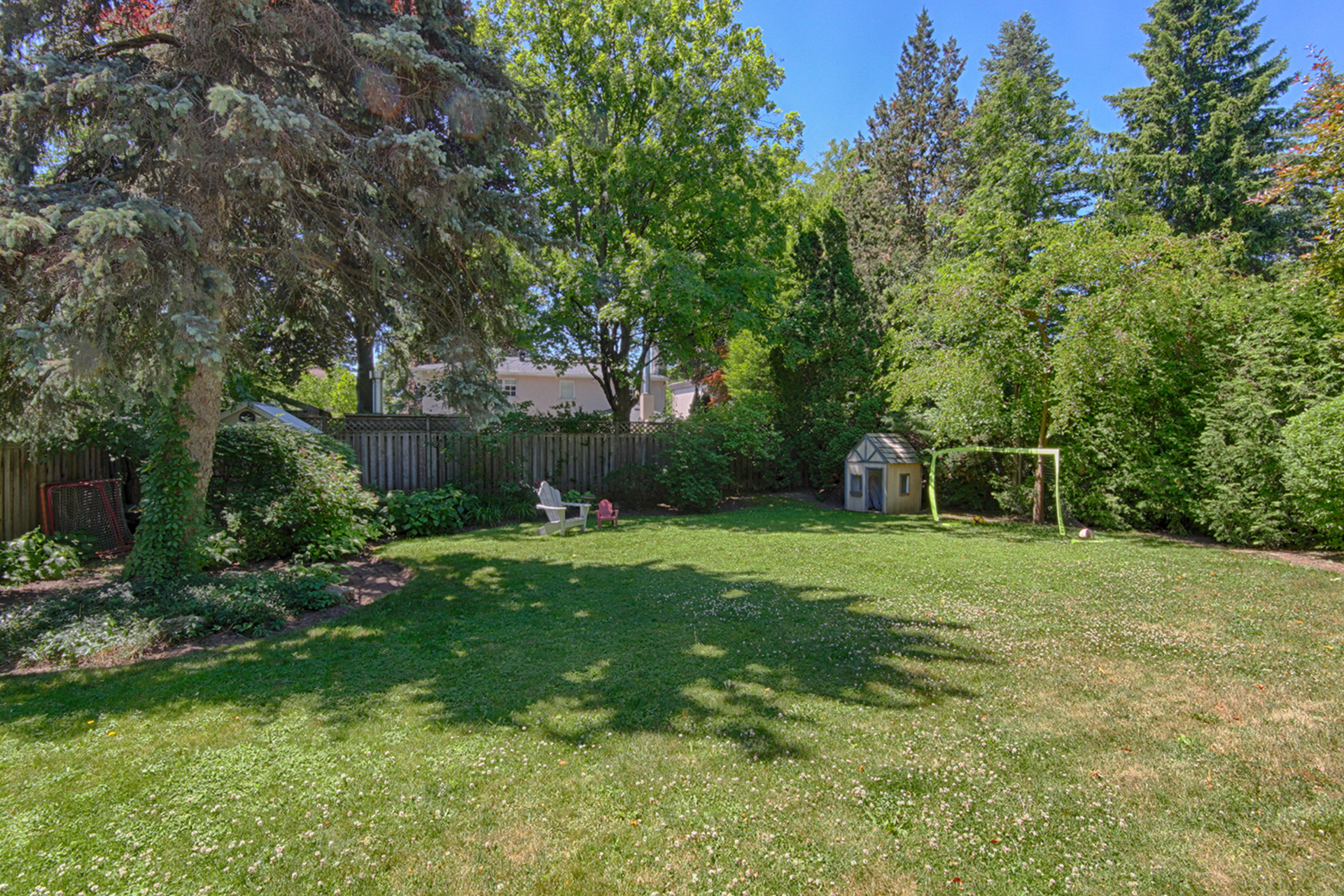 Backyard at 25 Dunlace Drive, St. Andrew-Windfields, Toronto