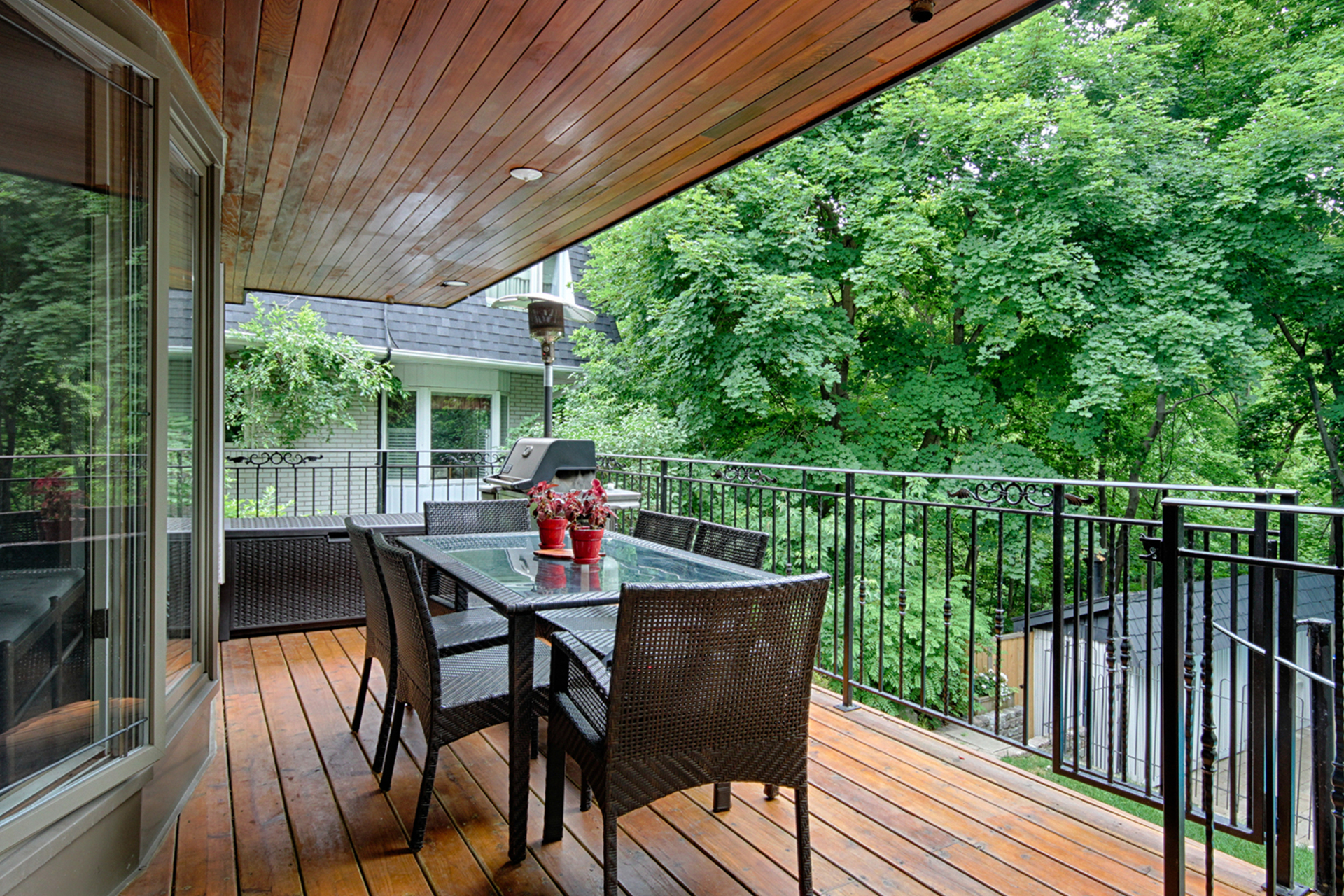 Breakfast Room Deck at 15 Brushwood Court, Parkwoods-Donalda, Toronto
