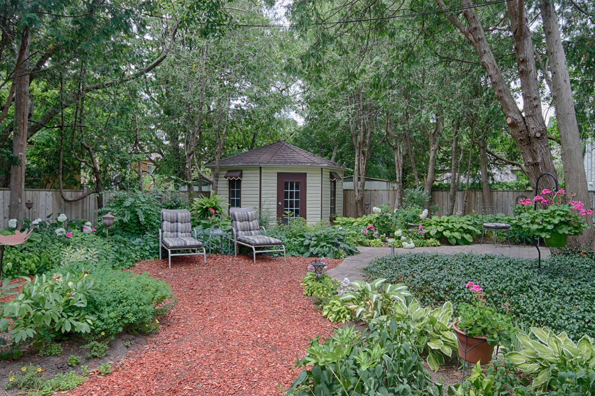 Backyard at 25 Plateau Crescent, Banbury-Don Mills, Toronto