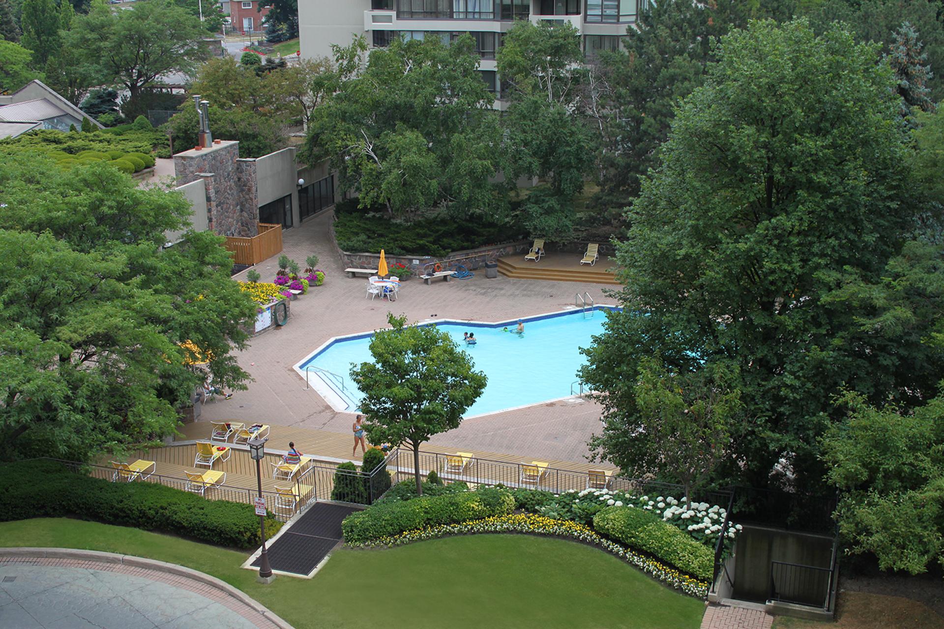 View from Balcony at 606 - 275 Bamburgh Circle, Steeles, Toronto