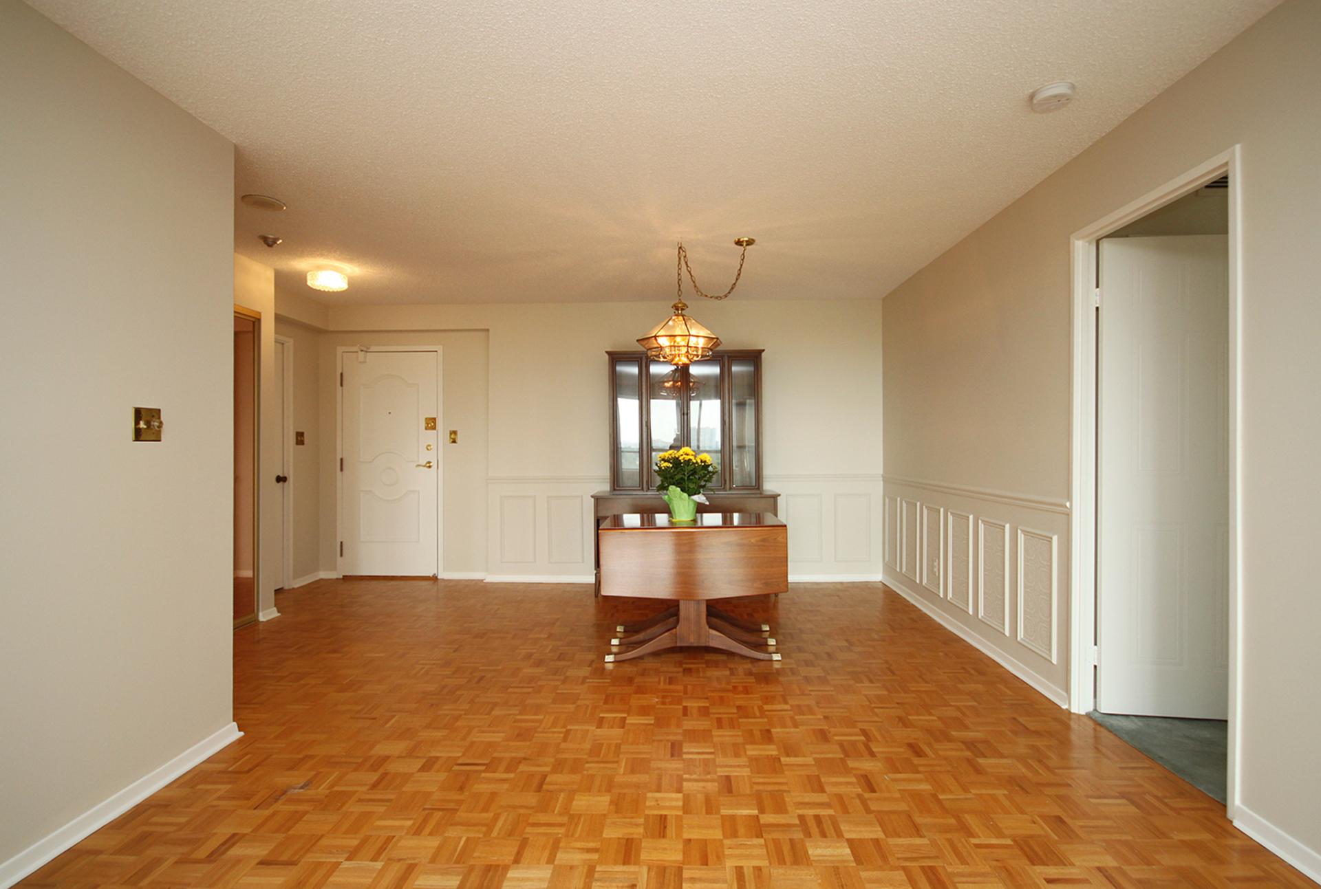 Dining Room at 606 - 275 Bamburgh Circle, Steeles, Toronto