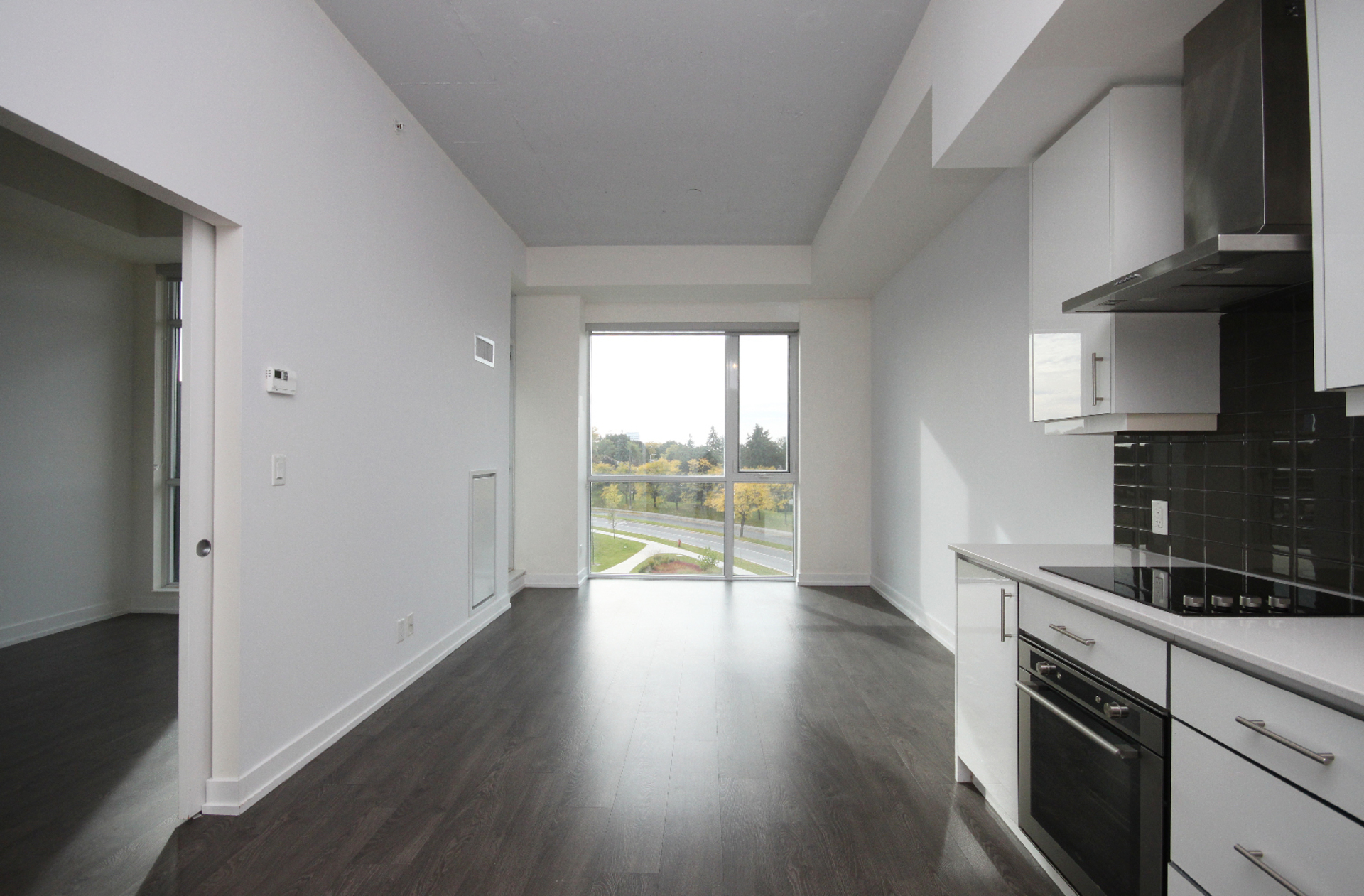 Kitchen & Living Room at 409 - 75 The Donway West, Banbury-Don Mills, Toronto