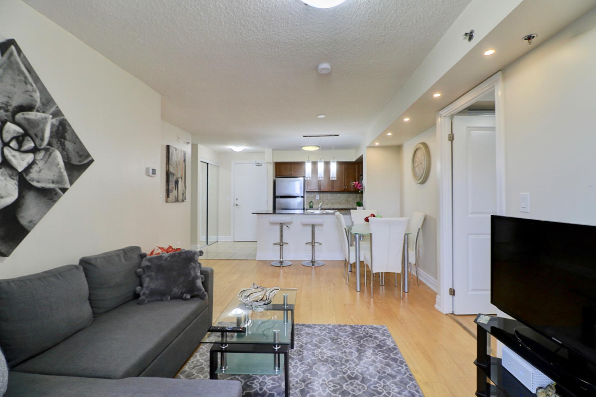 Living Room at 401 - 760 W Sheppard Avenue, Bathurst Manor, Toronto