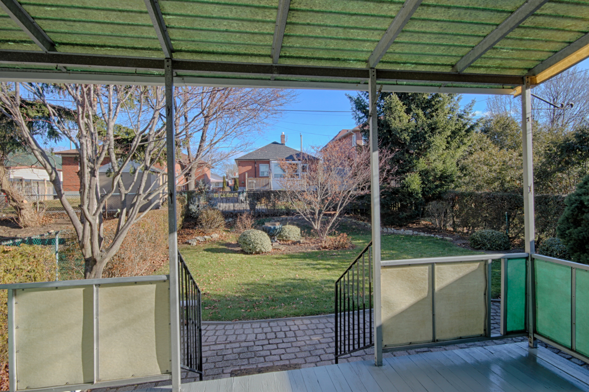 Backyard at 61 Marsh Road, Clairlea-Birchmount, Toronto