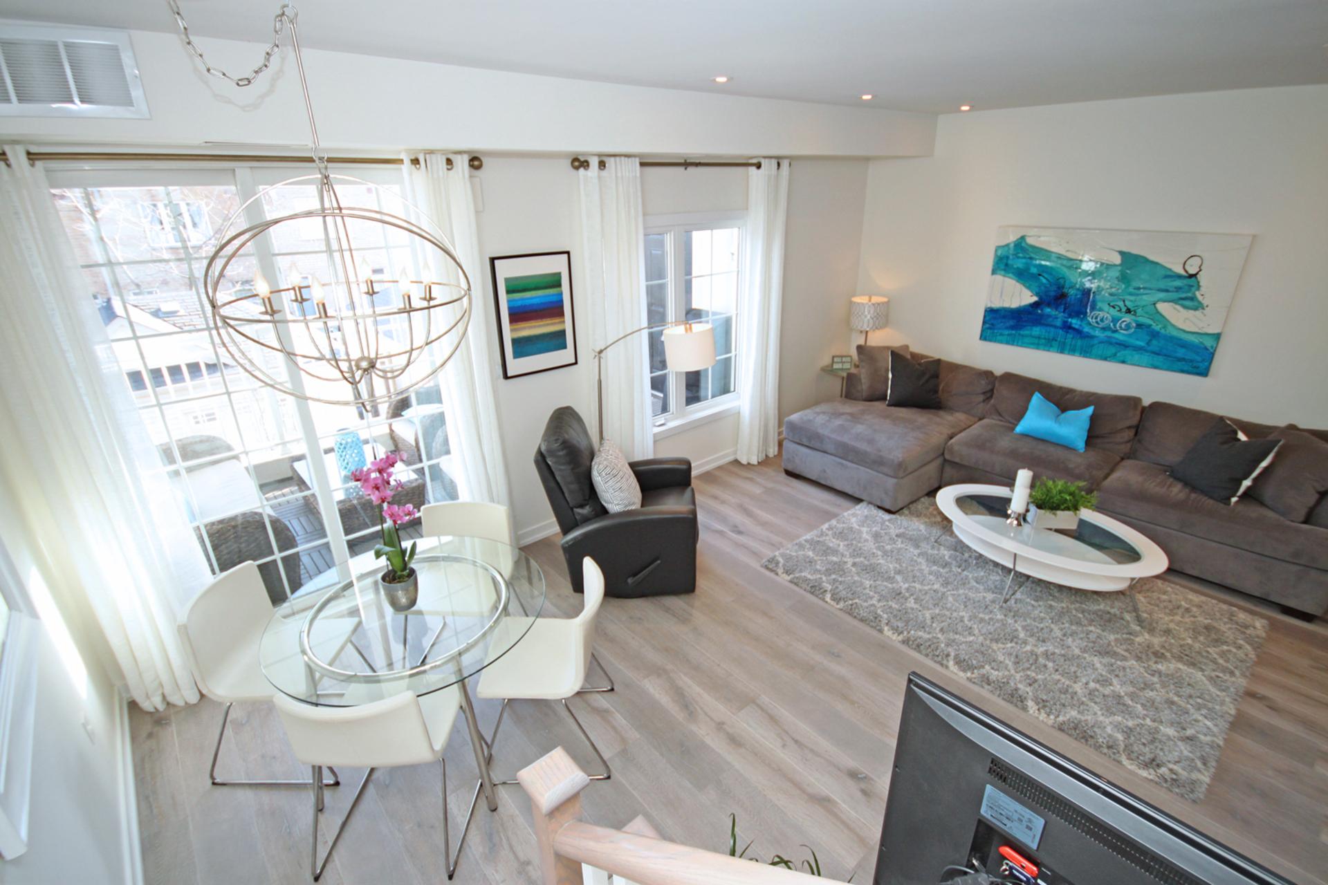 Living & Dining Room at 114 - 2320 Gerrard Street E, East End-Danforth, Toronto