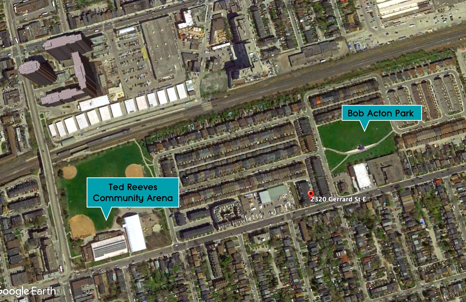 Aerial of Parks at 114 - 2320 Gerrard Street E, East End-Danforth, Toronto