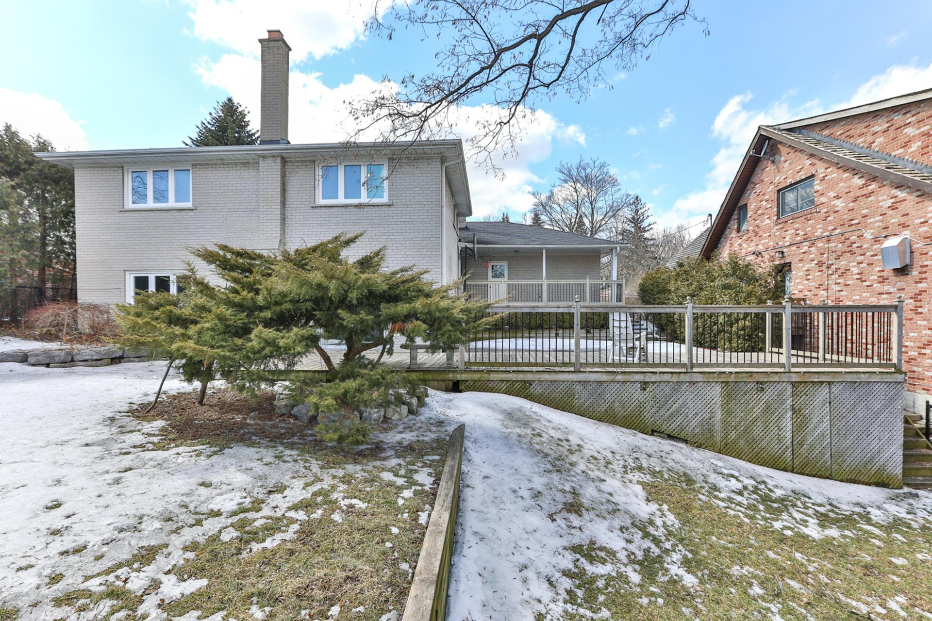 Backyard at 111 Bannatyne Drive, St. Andrew-Windfields, Toronto