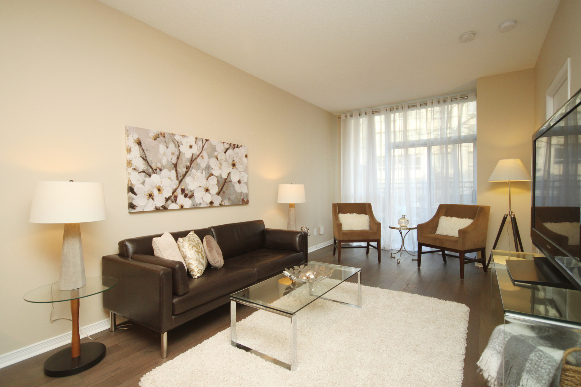Living Room at 115 - 205 The Donway West, Banbury-Don Mills, Toronto
