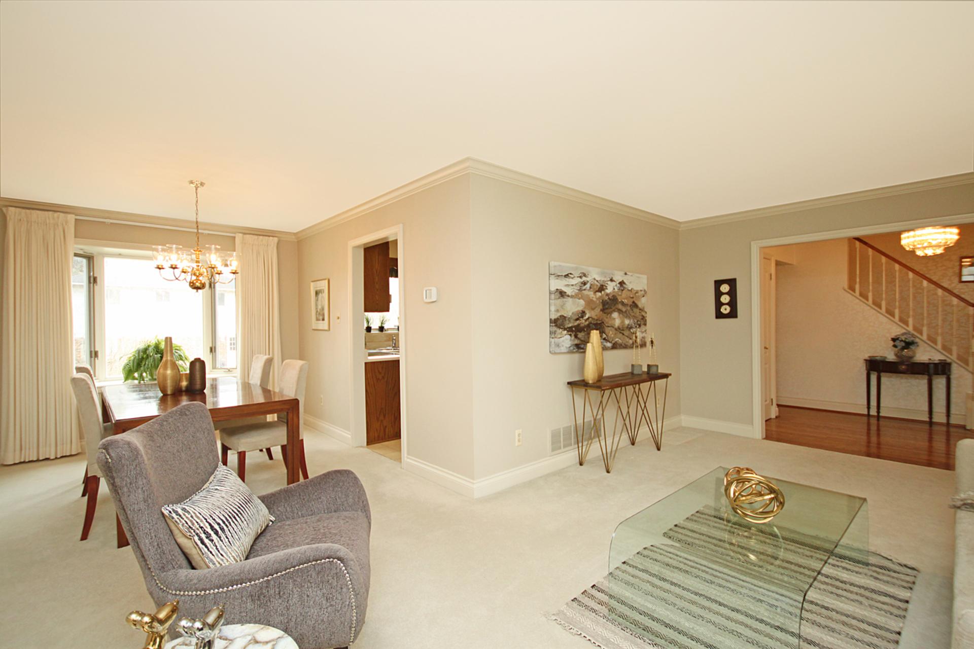 Living Room & Dining Room at 18 Deerpath Road, Parkwoods-Donalda, Toronto