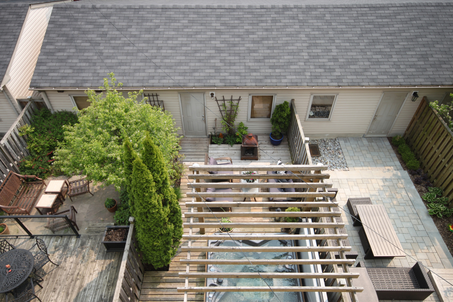 Aerial from Balcony at 7a Mcgee Street, South Riverdale, Toronto