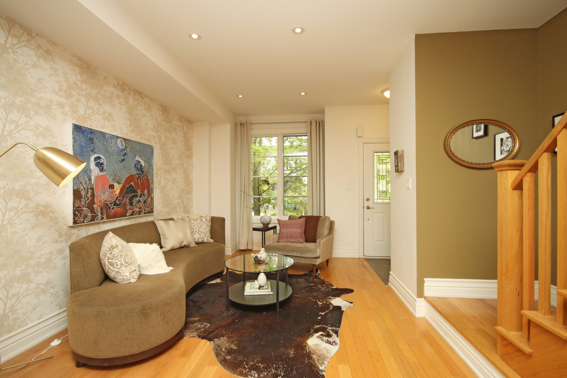 Living Room at 7a Mcgee Street, South Riverdale, Toronto