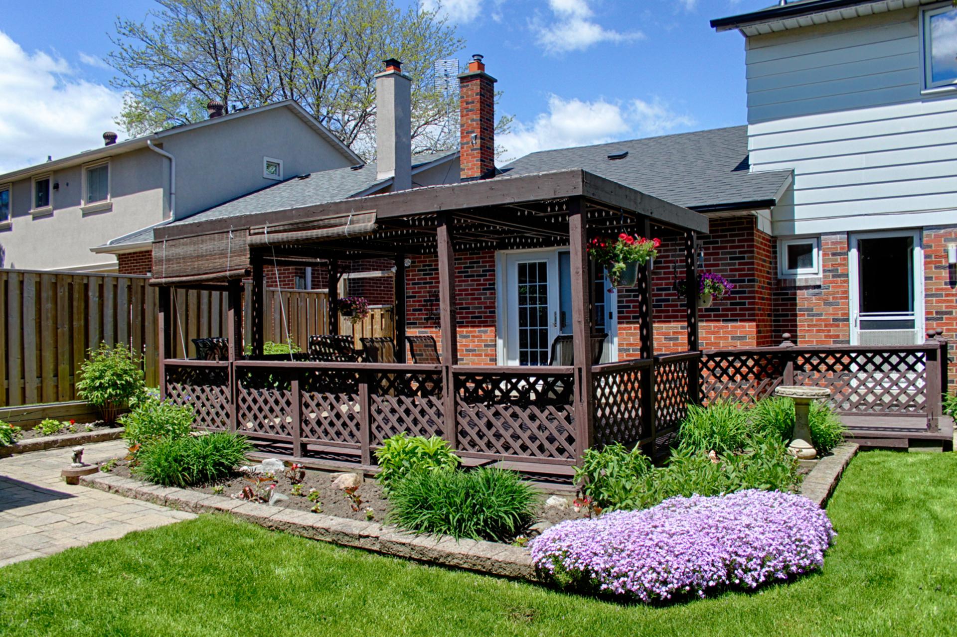 Backyard at 15 Rustywood Drive, Parkwoods-Donalda, Toronto