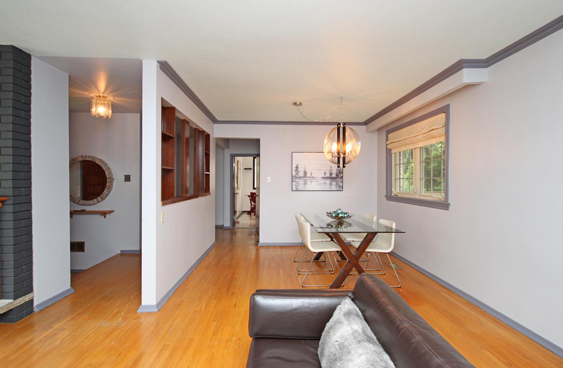 Living & Dining Room at 31 Groveland Crescent, Parkwoods-Donalda, Toronto