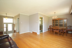 Living & Dining Room at 145 Sloane Avenue, Victoria Village, Toronto