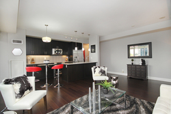 Living Room & Kitchen at 405 - 85 The Donway W, Banbury-Don Mills, Toronto