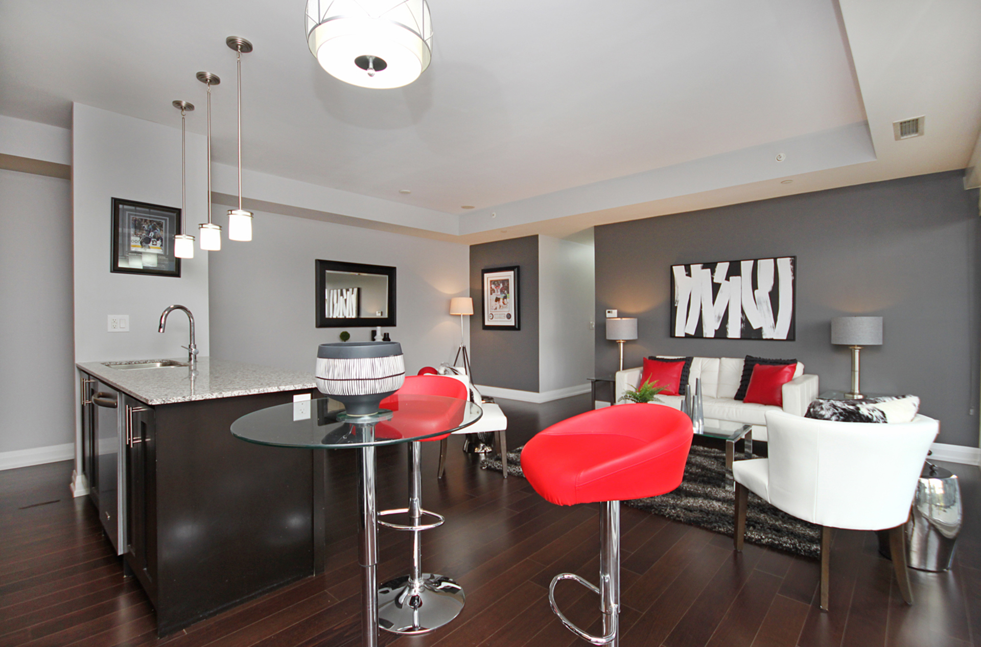 Kitchen & Living Room at 405 - 85 The Donway W, Banbury-Don Mills, Toronto