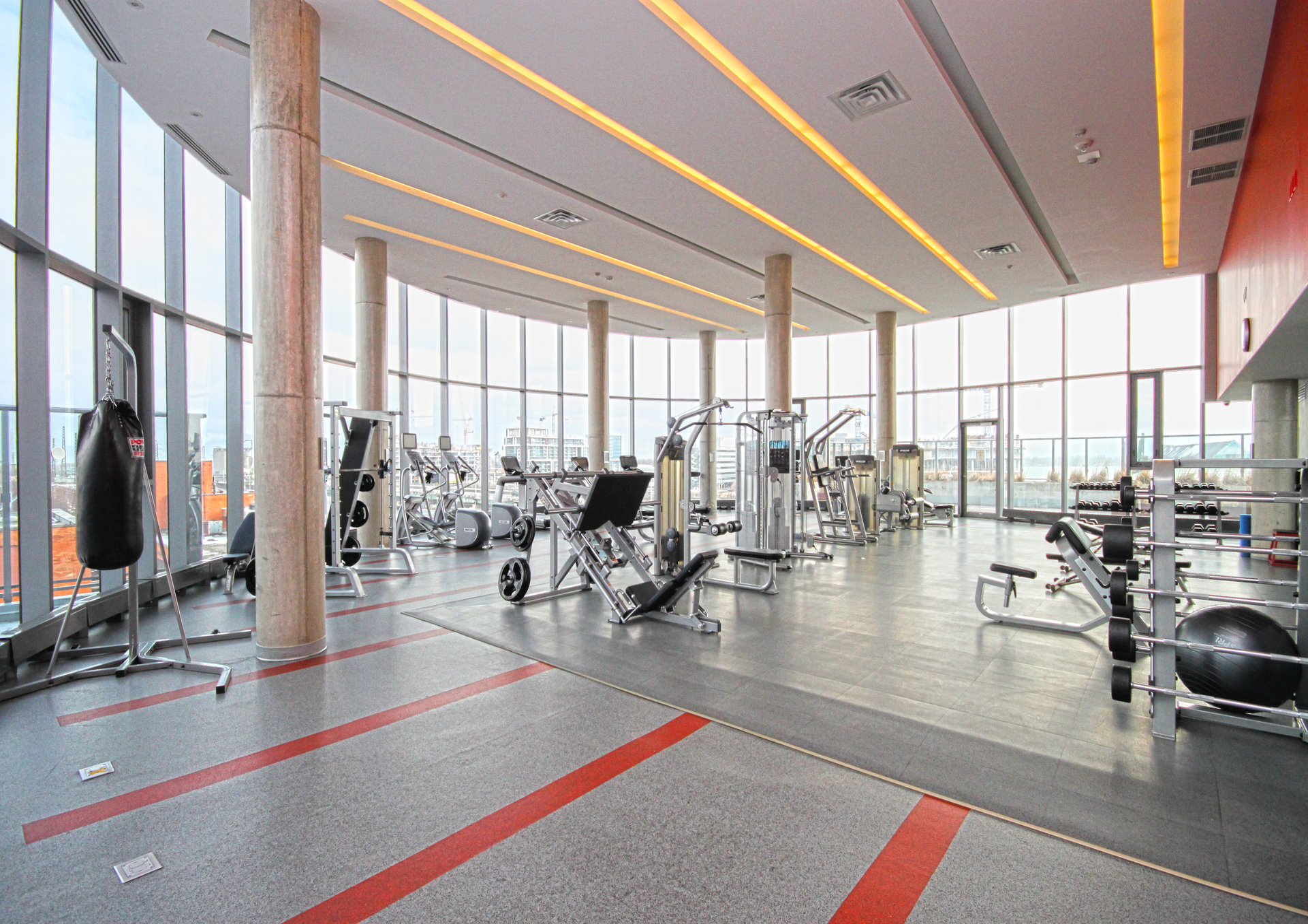 Gym at 1110 - 1 Market Street, Waterfront Communities C8, Toronto