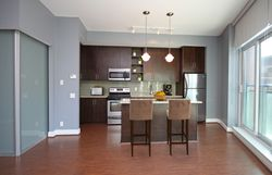 Virtually Staged Kitchen at S209 - 112 George Street, Moss Park, Toronto