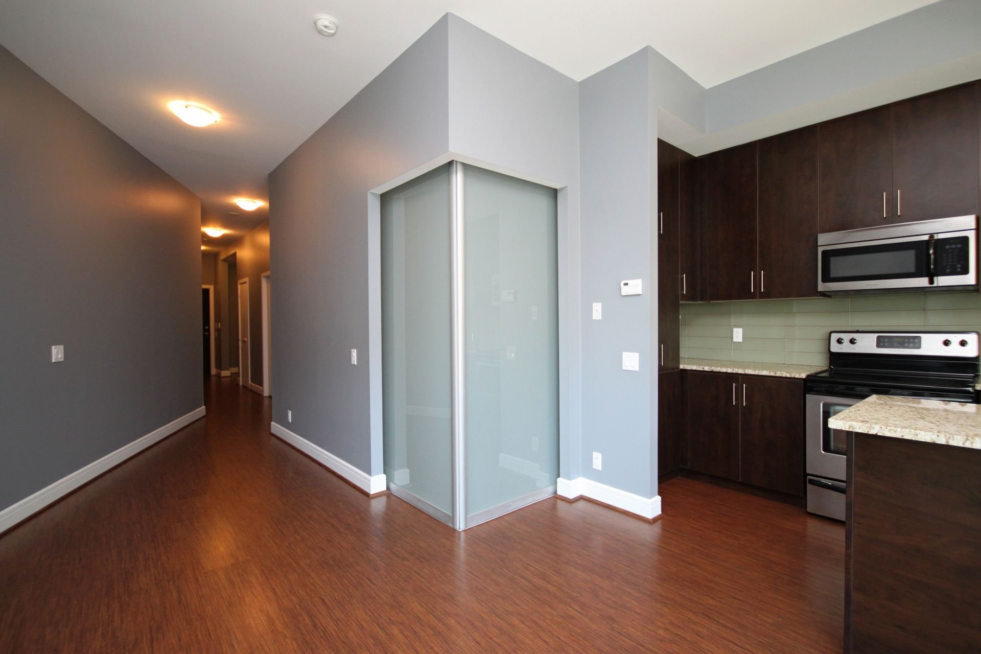 Kitchen & Bedroom at S209 - 112 George Street, Moss Park, Toronto