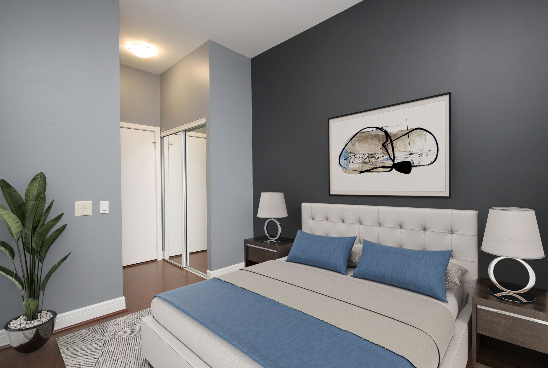Virtually Staged Bedroom at S209 - 112 George Street, Moss Park, Toronto