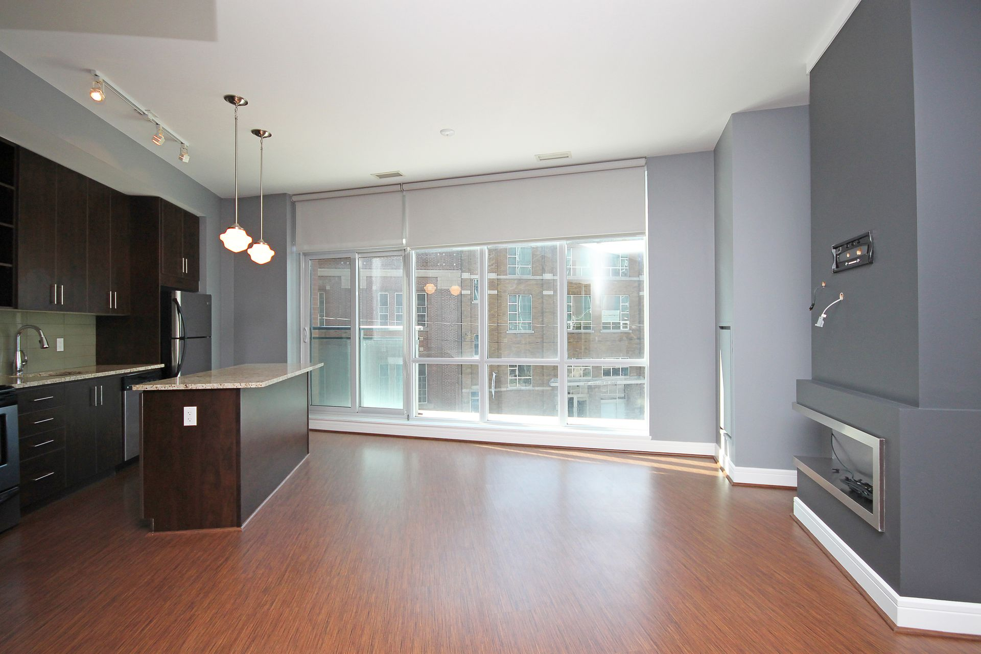 Living Room & Kitchen at S209 - 112 George Street, Moss Park, Toronto