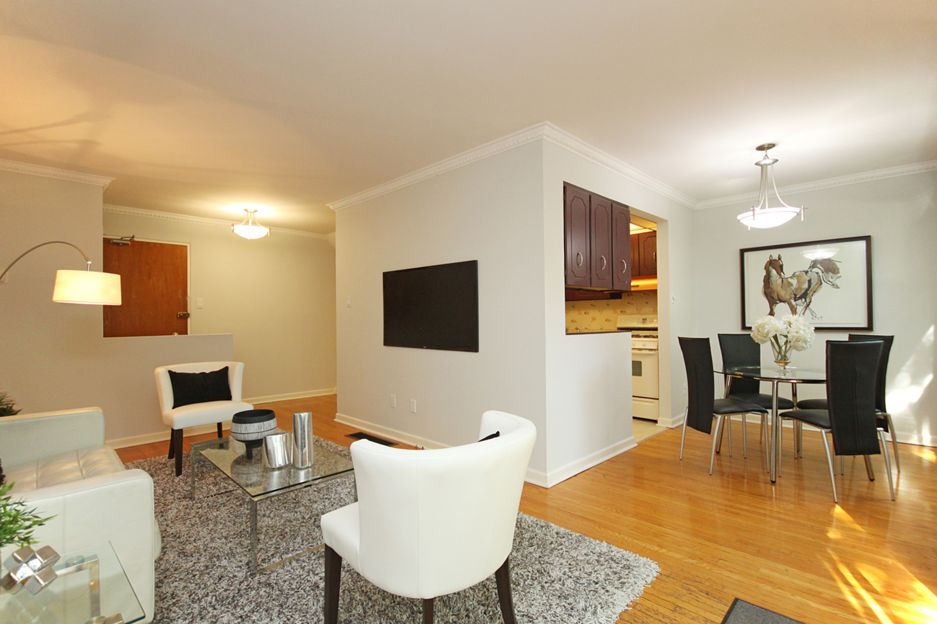 Living & Dining Room at 3 - 54 Three Valleys Drive, Parkwoods-Donalda, Toronto