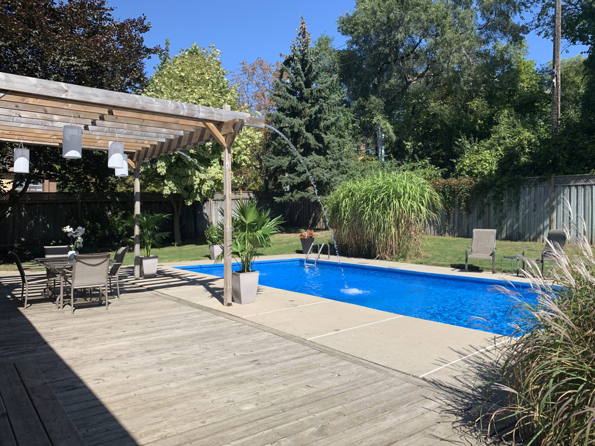 Backyard at 1 Groveland Crescent, Parkwoods-Donalda, Toronto