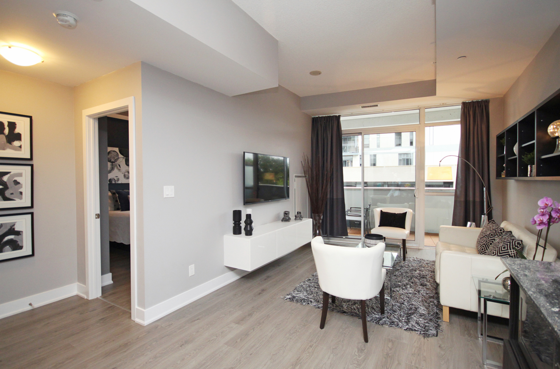 Living Room at 203 - 99 The Donway W, Banbury-Don Mills, Toronto