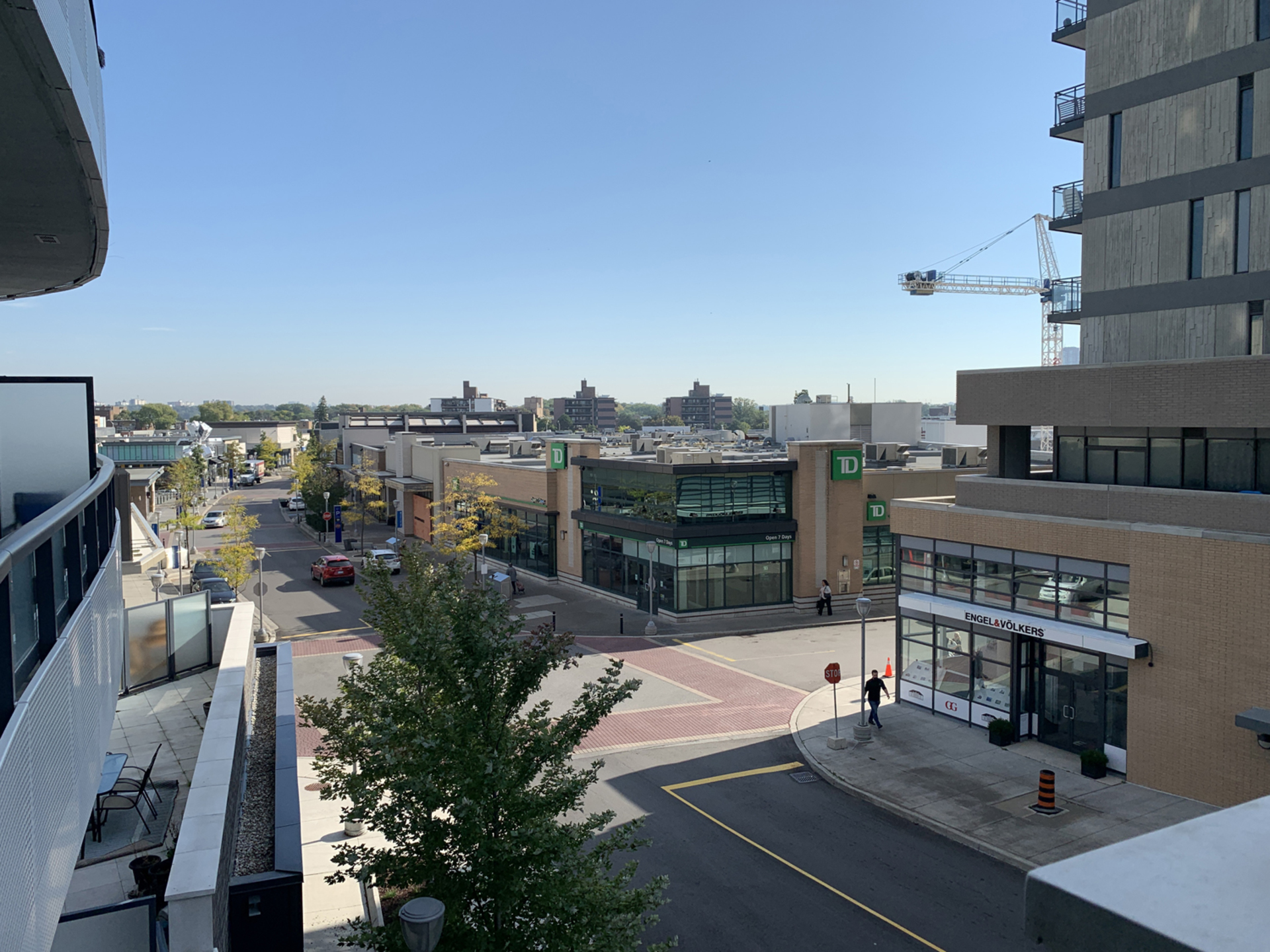 View from Balcony at 203 - 99 The Donway W, Banbury-Don Mills, Toronto