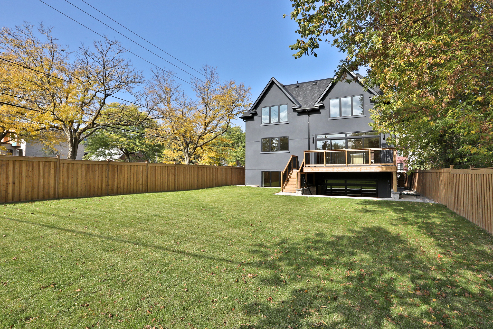 Backyard at 47 Yorkview Drive, Willowdale West, Toronto