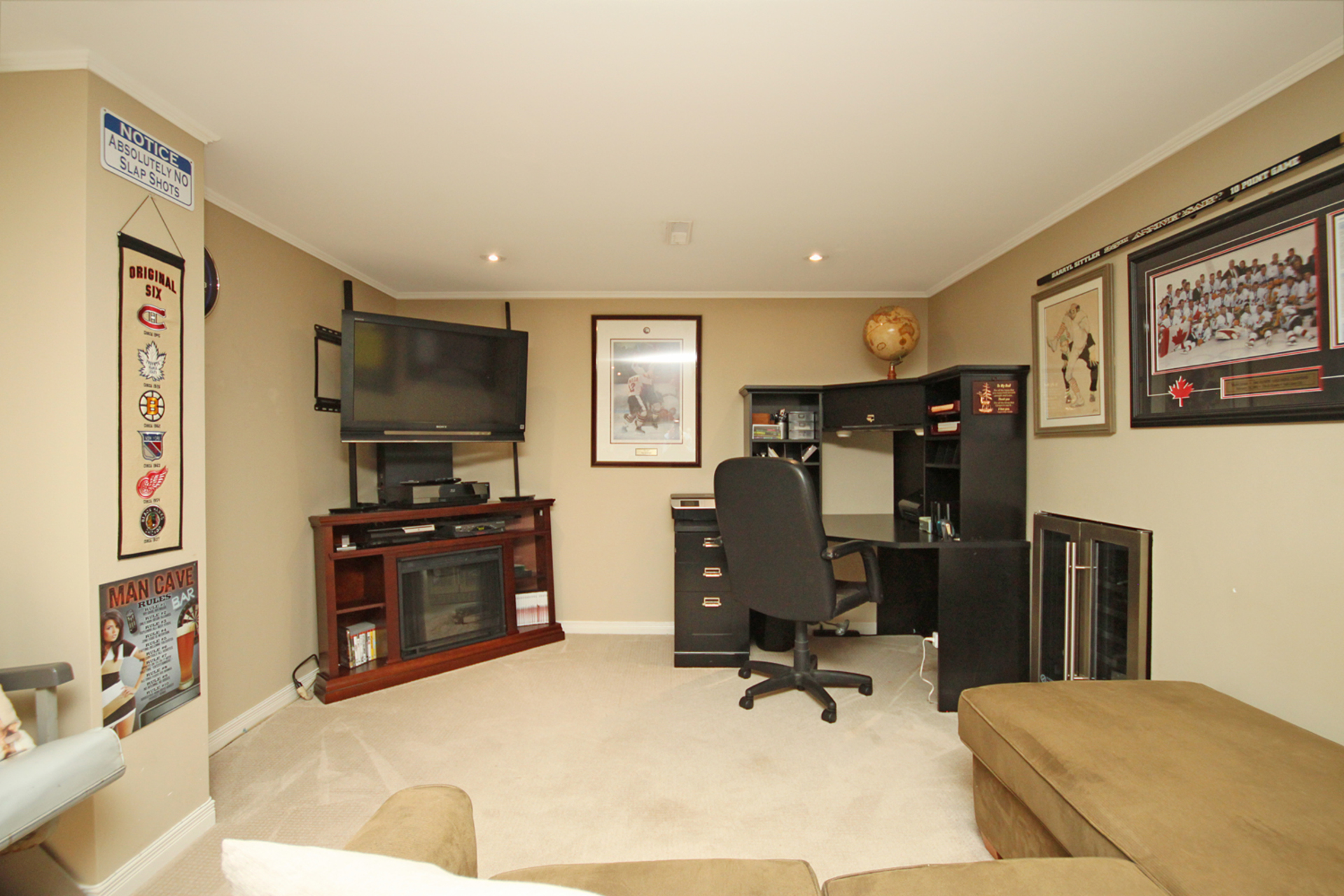 Recreation Room at 93 Duncairn Road, Banbury-Don Mills, Toronto