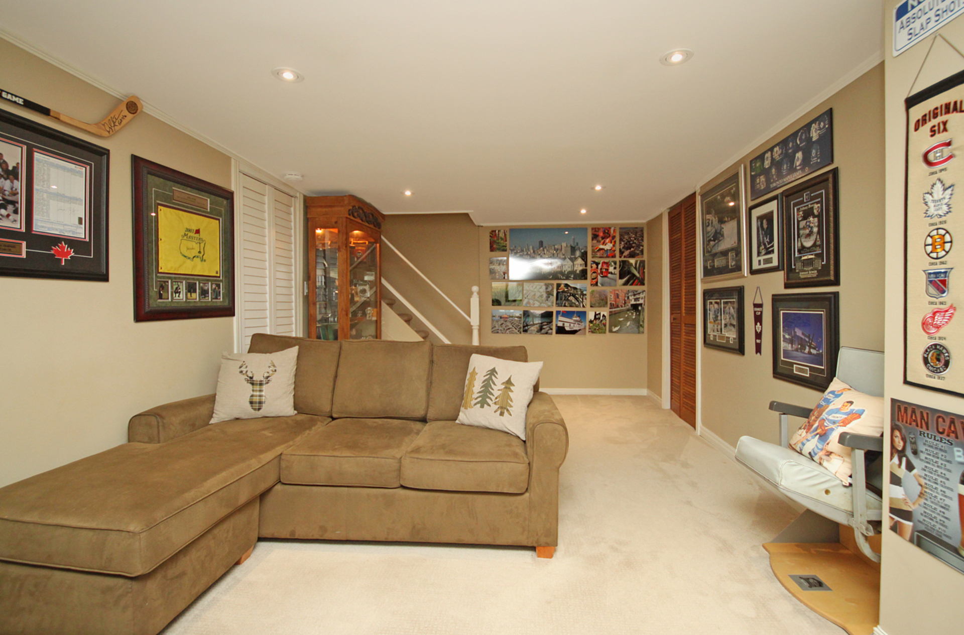 Recreation Room at 93 Duncairn Road, Banbury-Don Mills, Toronto