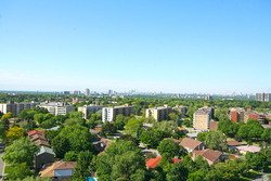 Southern View from Balcony at 1704 - 1350 York Mills Road, Parkwoods-Donalda, Toronto