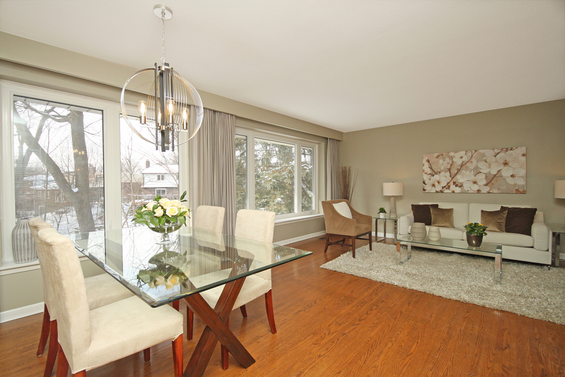 Dining & Living Room at 6 Redwillow Drive, Parkwoods-Donalda, Toronto