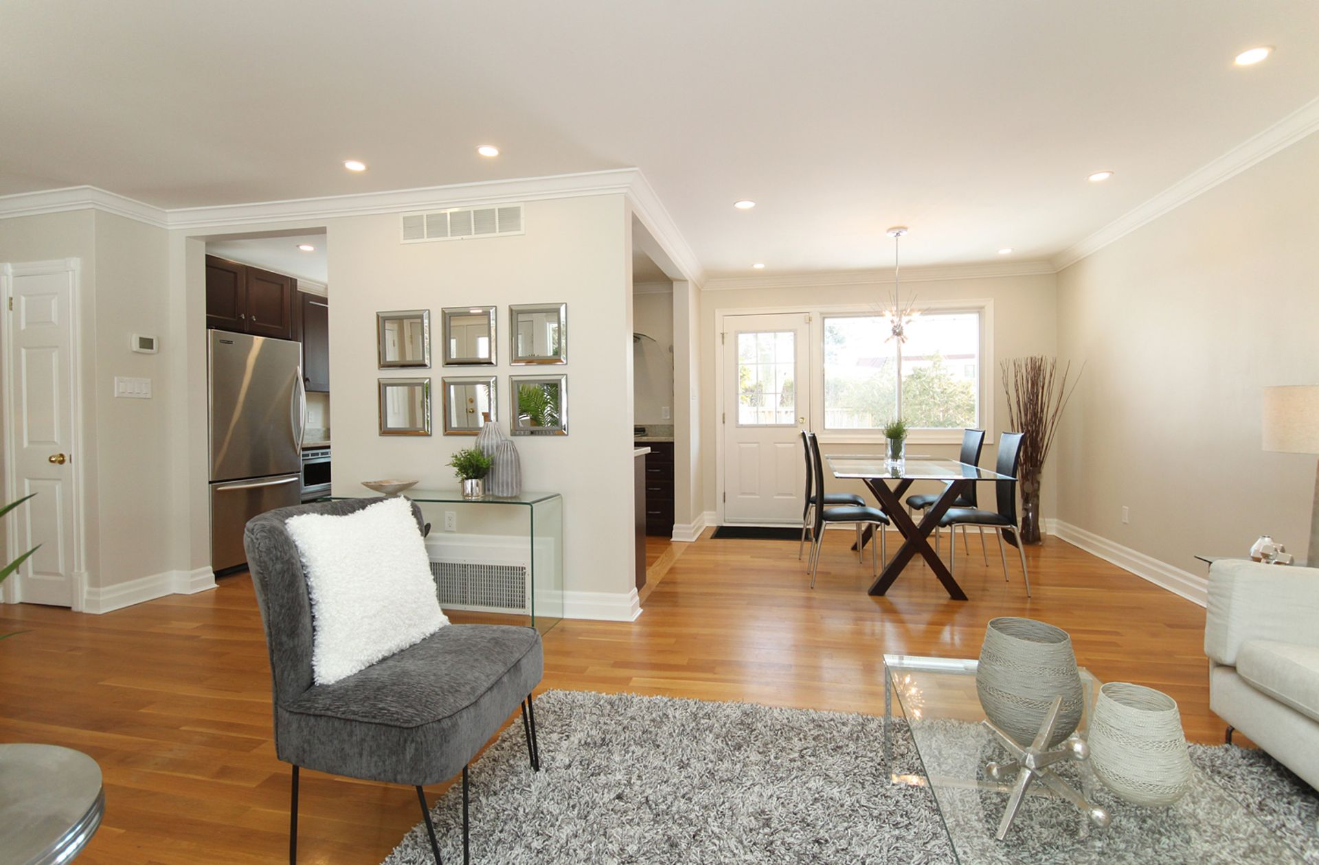 Living & Dining Room at 21 Kestell Lane, Parkwoods-Donalda, Toronto