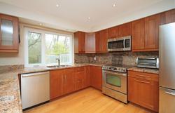 Kitchen & Living Room at 151 Three Valleys Drive, Parkwoods-Donalda, Toronto