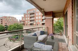 Balcony Virtually Staged at 302 - 20 Burkebrook Place, Bridle Path-Sunnybrook-York Mills, Toronto