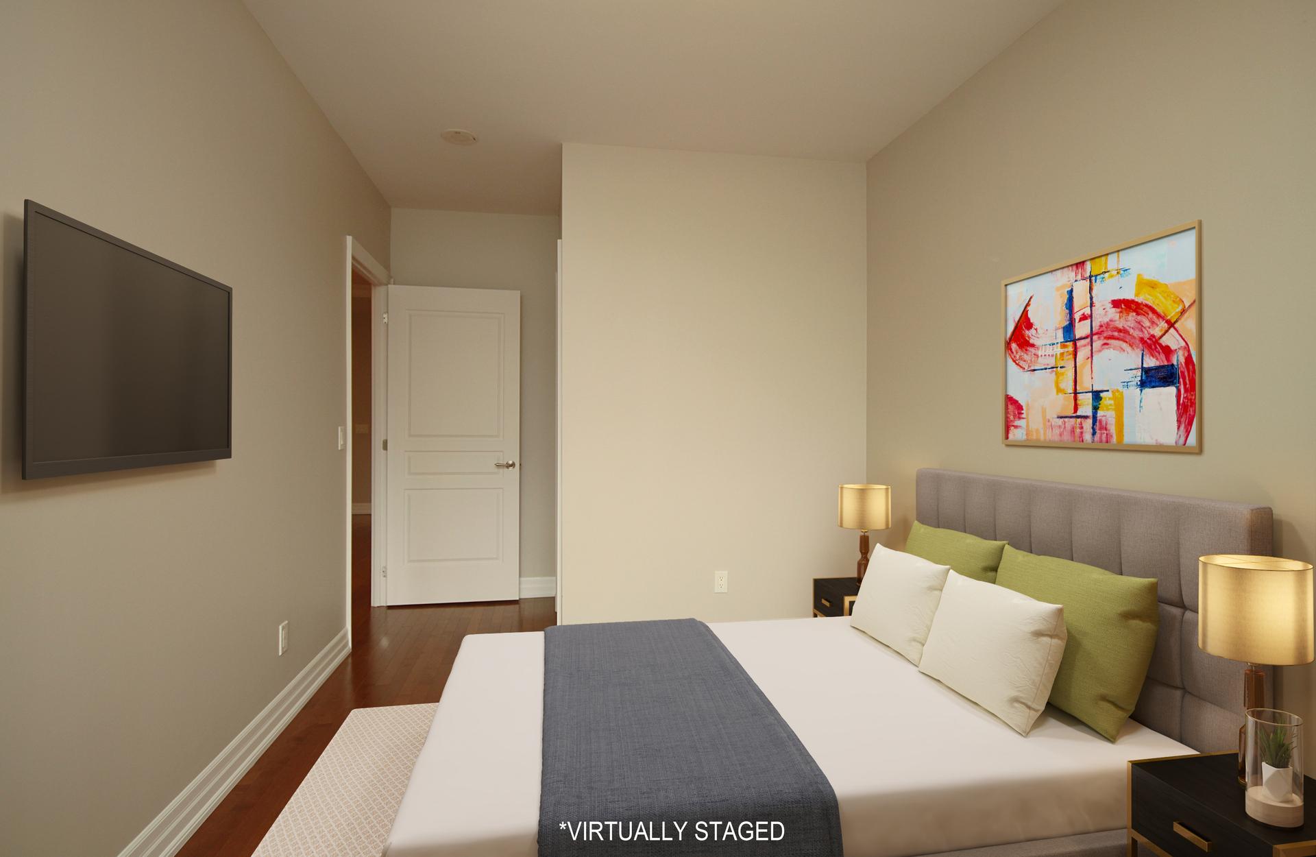 Bedroom Virtually Staged at 302 - 20 Burkebrook Place, Bridle Path-Sunnybrook-York Mills, Toronto