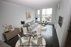 Dining & Living Room Virtual Staging at 817 - 80 Esther  Lorrie Drive, West Humber-Clairville, Toronto