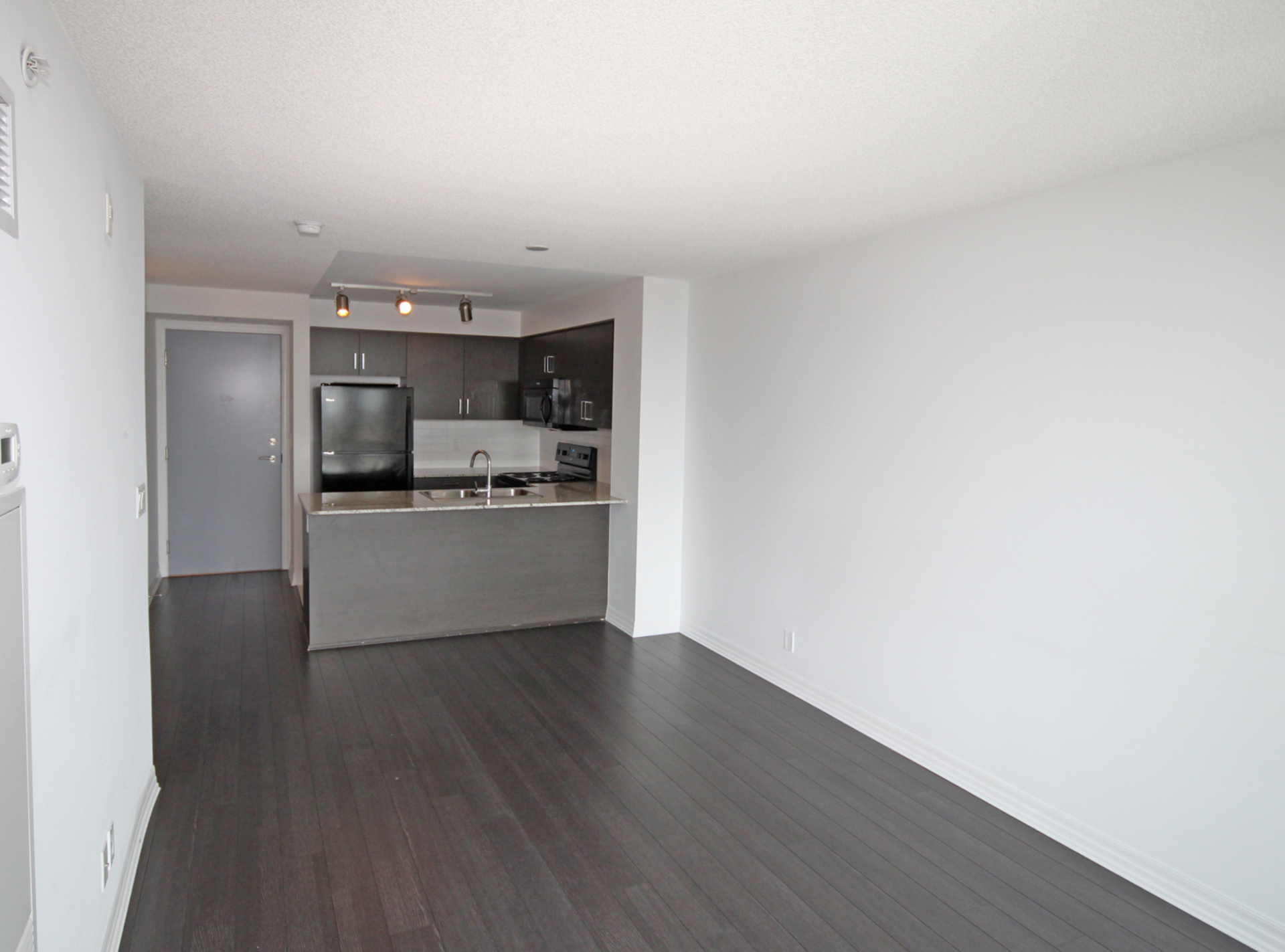 Living, Dining & Kitchen at 817 - 80 Esther  Lorrie Drive, West Humber-Clairville, Toronto