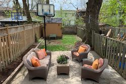 Backyard at 241 Milverton Boulevard, Danforth, Toronto